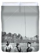 First African American United States Marines 1942 Duvet Cover