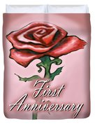 First Anniversary Duvet Cover