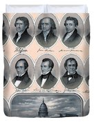 First Hundred Years Of American Presidents Duvet Cover