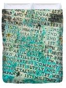 First Infantry Division Memorial Plaque Duvet Cover