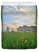 First Light In Glacial Park Duvet Cover
