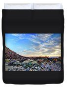 First Light In Valley Of Fire Duvet Cover