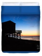 First Light On Beach Road, Falmouth Duvet Cover