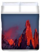First Light On Cerro Torre - Patagonia Duvet Cover