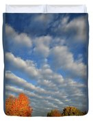 First Light On Glacial Park Sugar Maples Duvet Cover