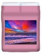 First Light On The Beach Duvet Cover