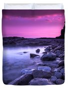 First Light On The Rocks At Indian Head Cove Duvet Cover