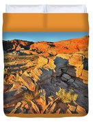 First Light On Valley Of Fire State Park Duvet Cover