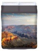 First Light Over Grand Canyon, Arizona, Usa Duvet Cover