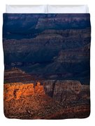 First Light Over Yavapai Point  Grand Canyon Duvet Cover