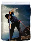 First Nation Fisherman Duvet Cover
