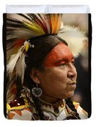 Pow Wow First Nations Man Portrait 1 Duvet Cover