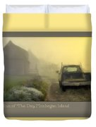 First Run Of The Day, Monhegan Island  Duvet Cover