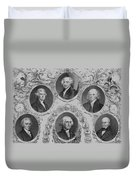 First Six U.s. Presidents Duvet Cover