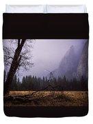 First Snow In Yosemite Valley Duvet Cover by Priya Ghose