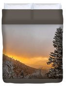 First Snow On The Blue Ridge Parkway. Duvet Cover by Itai Minovitz