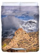 First Snow On The Hills Duvet Cover