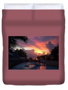 First Sunset In Negril Duvet Cover