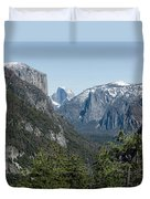 First View Of Yosemite Valley Duvet Cover
