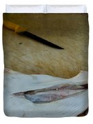 Fish And Knife On A Cutting Board Duvet Cover