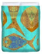Fish And Loaves Duvet Cover