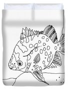 Fish And Rock Duvet Cover