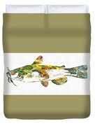 Fish Art Catfish Duvet Cover