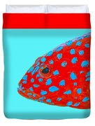 Fish Art - Strawberry Grouper Duvet Cover