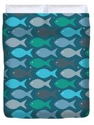 Fish Blue  Duvet Cover
