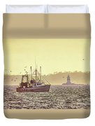 Fish For Dinner Duvet Cover