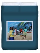 Fish For Supper Duvet Cover