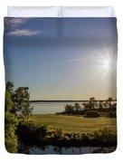 Fish Hook Lake Morning Duvet Cover
