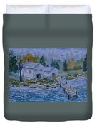 Fish House And Dock 2  Duvet Cover