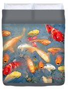 Fish In A Lake Duvet Cover