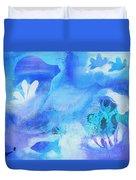 Fish In Blue Duvet Cover
