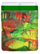 Fish In Green Duvet Cover