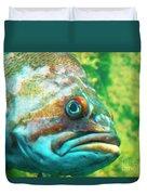 Fish Looking At You Duvet Cover