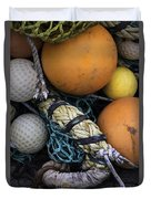 Fish Netting And Floats 0129 Duvet Cover