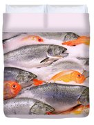 Fish On Ice Duvet Cover