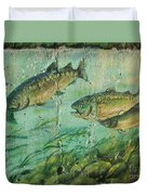 Fish On The Wall 2 Duvet Cover