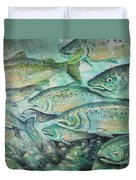 Fish On The Wall Duvet Cover