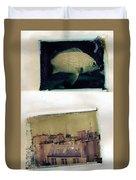 Fish Over Paris Duvet Cover
