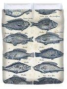 Fish Species Historiae Naturalis 08 - 1657 - 13 Duvet Cover