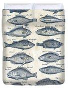 Fish Species Historiae Naturalis 08 - 1657 - 14 Duvet Cover