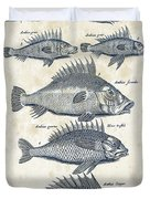 Fish Species Historiae Naturalis 08 - 1657 - 16 Duvet Cover