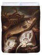 Fish Still Life Duvet Cover