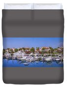 Fisher Island Miami Private Marina Duvet Cover