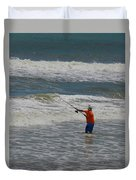 Fisherman And The Sea Duvet Cover