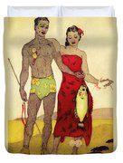 Fisherman Duvet Cover by Hawaiian Legacy Archives - Printscapes