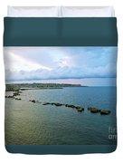 Fisherman's Delight In Sicily Duvet Cover